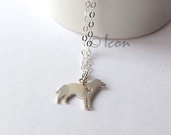 Silver Dog Necklace Tiny Dog Pendant, Small Animal Charm, Sterling Silver Dog Lovers Jewelry Gift
