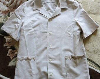 Linen men shirt, shirt half sleeve, classical shirt, men's shirt, Men's linen shirt, Men's summer shirt, Short sleeved shirt