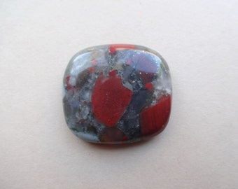 BloodStone Jasper cabochon 30x27 mm