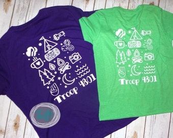 Girl scouts etsy for Girl scout troop shirts