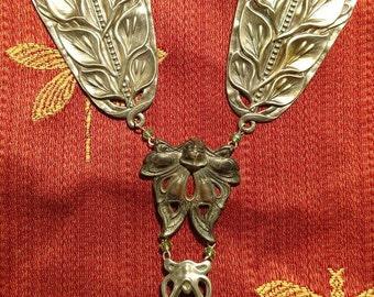 """Art Nouveau Moth Necklace No. 4 """"Death's Head Moth"""""""