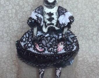 OOAK  Boudoir doll Pierrette