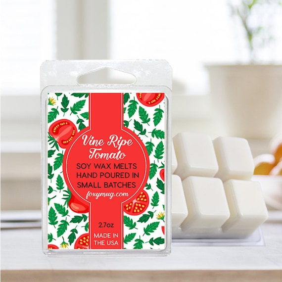 Soy Wax Melts Vine Ripe Tomato Hand Poured 2.7 ounce