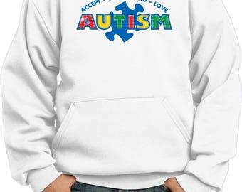 Kid's Autism Accept Understand Love Hoody XIT-13562-PC90YH