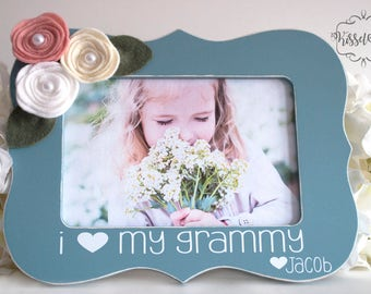 Mothers Day Gift for Grandma Gift for Grandma Grammy Mimi Granny I Love My Grandma Picture Frame I Love My Grandmother Picture Frame Gift4x6