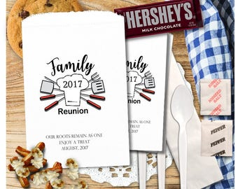 Family Reunion Favors - Family Reunion Treat Bags - Utensil Bags - Cookie Bags - Smores Bags - FR4aTB1