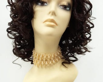 13 Inch Lace Front Dark Brown Curly Wig. Heat Resistant Spiral Curls Synthetic Fashion Wig [76-395-Molly-4]