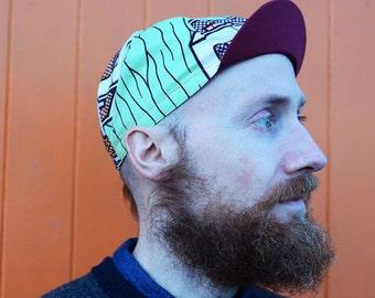 "ANNIBALE CYCLING CAP - Wax print cotton cycling cap ""Baltimore"""