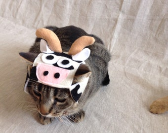 Cow Hat for Cats