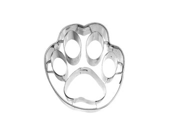 Paw Print Cookie Cutter / Stainless Steel Puppy Dog Cat Kitten Cookie Shape / Dog Biscuit Treat Press / Puppy Patrol Girl Boy Birthday Party