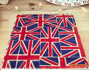 Union Jack pot stands and coasters