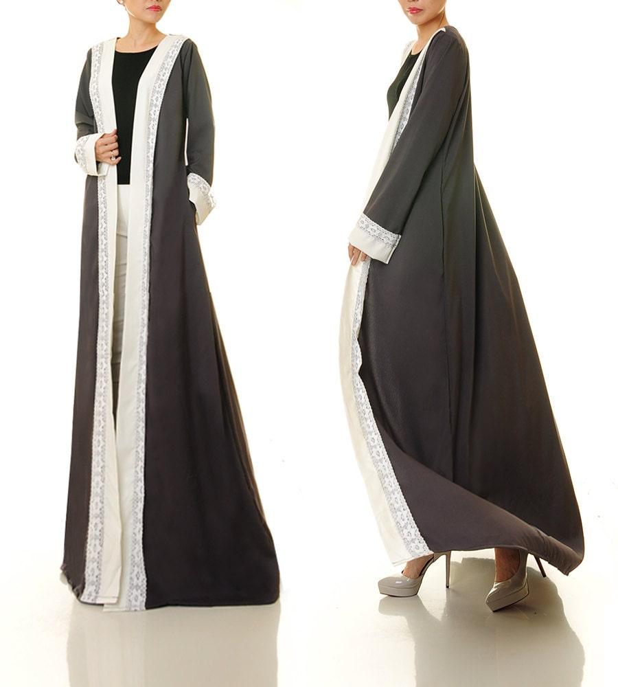 Maxi Cardigan Grey Cardigan Long Sleeve Cardigan Abaya