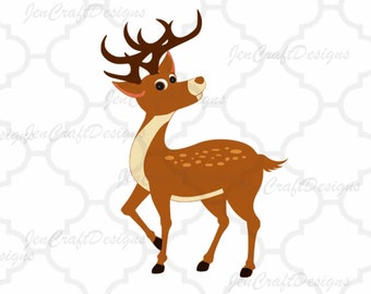 Reindeer SVG,EPS Png DXF,digital download files for Silhouette Cricut, vector Clip Art graphics Vinyl Cutting Machines
