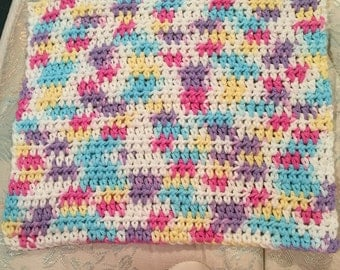Crocheted Dishcloths Washcloths Fleur De Lavande