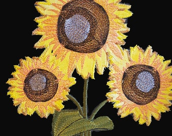 Sunflower Applique Embroidery design / Machine Embroidery / Applique / flowers