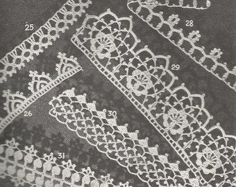 Vintage Irish Crochet Edgings Selection, 8 Different Edgings, Crochet PDF Pattern