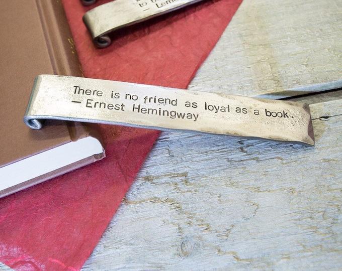 Personalised Metal Bookmark
