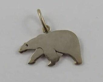 Polar Bear Sterling Silver Vintage Charm For Bracelet