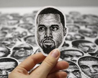 Scribbled Kanye - Vinyl Sticker