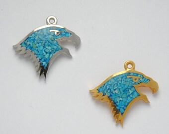 Eagle pendant - Native american pendant - Eagle head pendant - Turquoise pendant