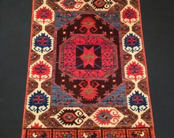 2'9'' x 4' (150 cm x 280 cm), Turkish Rug, Konya Karapinar, Decorative Anatolian Rug