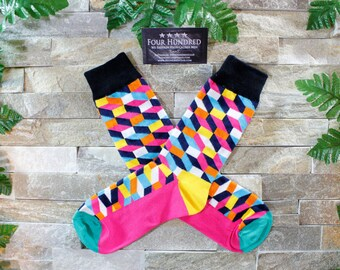 Mens socks. Mens dress socks. Socks. Groomsmen socks. Funny mens socks. Fun socks. Colorful socks. Cool socks. Wedding socks. Socks for men.