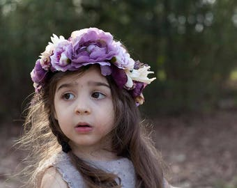 Flower Crown, Toddler Flower Crown, Adult Flower Crown, Wedding Flower Crown, Flower Girl Crown, Floral Crown, Hair Wreath, Halo Crown