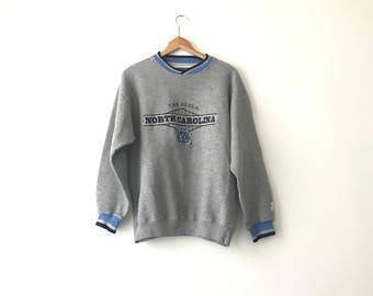 NORTH CAROLINA SWEATSHIRT // 90s // Large // North Carolina // Unc Sweatshirt // 90s Sweatshirt // North Carolina Sweatshirt // Starter