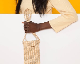 Raffia hand woven iphone case, iphone holder,straw iphone sling, Iphone holder, iphone sling fits 5,5s,6,6s,6plus,6splus,7 apple iphone case