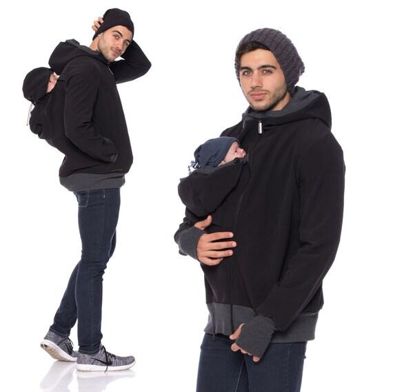 Dad baby carrier jacket baby hoodie men baby carrier jacket for Daddy carrier