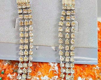 Wedding Bridal Vintage Rhinestone Earrings