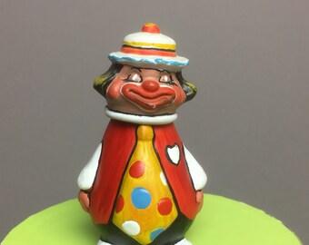 Tiny Annette Little 1980 Ceramic Clown Figurine Enesco Imp. - Japan