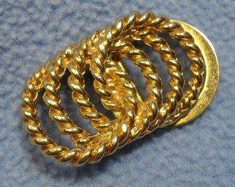 Golden Rope Dress Clip