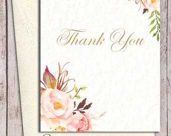 danke karten zum ausdrucken florales dankesch n karte danke. Black Bedroom Furniture Sets. Home Design Ideas