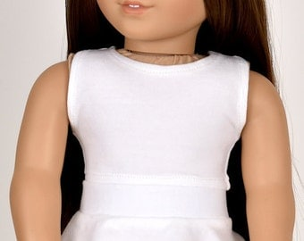 Cropped top 18 inch doll clothes Color Ivory