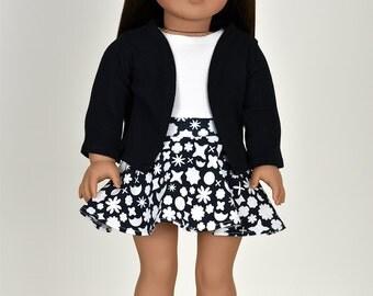 18 inch doll cardigan  Color Black