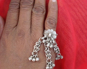 vintage antique tribal belly dance jewelry old silver ring gypsy hippie