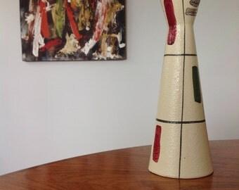 Scheurich vase 520 - mid century - hand painted - modernist design