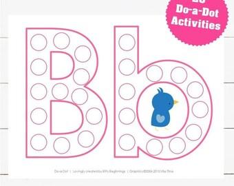 A-Z Do-a-Dot Set - Pink