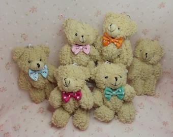 Miniature Plush Teddy Bears. Bear Key Chains. Bear Pendants, Ornaments. Barbie Accessories. Baby Shower Favors. Bear Brooch