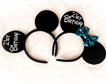 Adorable  Personalized Mickey/Minnie ears