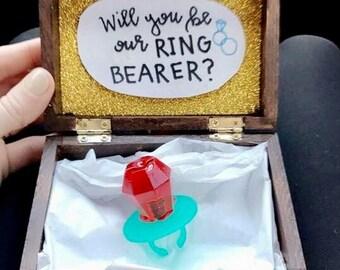 Wedding Ring Bearer Proposal Box