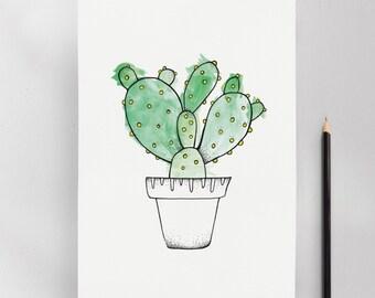 Affiche Cactus Consolea