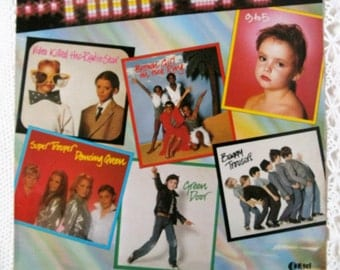 Mini Pops Album. Vintage 1981 Mini Pops LP. 1980s Children Singing Pop Hits. Collectable VInyl. K-Tel. 1980s Music Album.  1980s Covers LP.