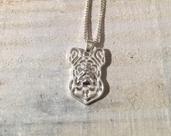 Pug Dog Necklace on a Silver Chain, Jewlery