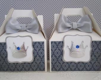 Prince Favor Boxes, Prince Party Favor Boxes, Favor Boxes, Boy Favor Boxes, Prince Party Favors, Prince Baby Shower Favor Boxes, Qty. 10