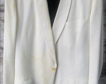 Vintage 1960s Palm Beach white Tuxedo w/pants size 44, pants 37W 33L
