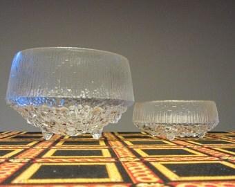 TAPIO WIRKKALA - Littala Glass, Ultima Thule line - Large Serving Bowl - Made in Finland - 1960s