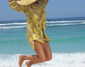 SALE!! Beach Tunic/Beach wear/Bohemian Short Dress/Tassels beach blouse/Summer Beach dress * MIMOSA TUNIC