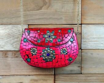 Beautiful clutch,Metal clutch,India inspired metal Kuchi clutch ,Formal purse,metal clutch,Formal clutch,Handbags,Afghan handmade